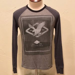 American Eagle Graphic Mens XS Long Sleeve Shirt